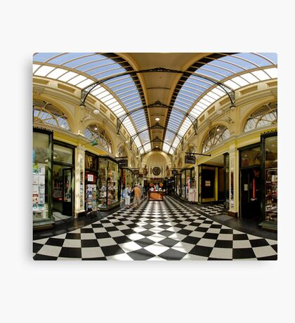 Arcade of Yesteryear melbourne Canvas Print