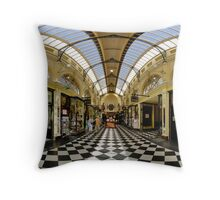 Arcade of Yesteryear melbourne Throw Pillow