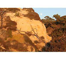 Moonrise over Sunlit Hills Photographic Print