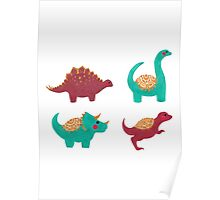 The Dinosaurs Pattern Poster
