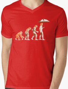 Ginger evolution Mens V-Neck T-Shirt