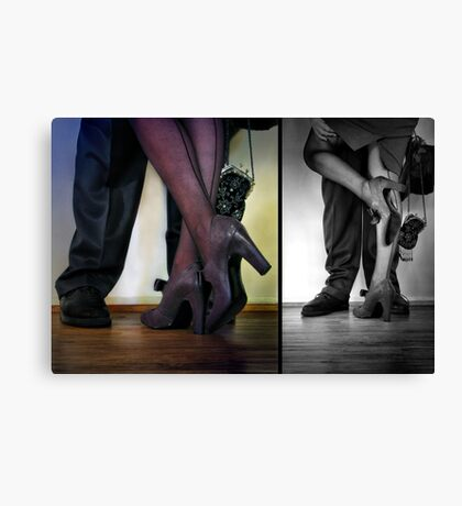 - they met - they danced - they fell in love -  Canvas Print