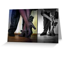 - they met - they danced - they fell in love -  Greeting Card