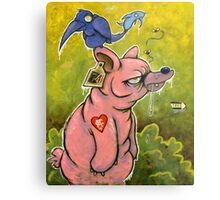 The PigBear Blues Metal Print