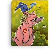 The PigBear Blues Canvas Print