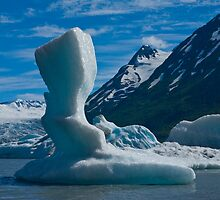 Bergs in Spencer Lake by Albert Dickson