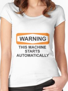 Warning: Automatic Women's Fitted Scoop T-Shirt
