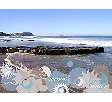 Wind Wave And Water Photographic Print