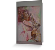Charlie Parker in the Pink Greeting Card