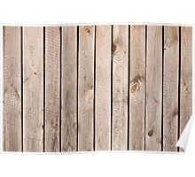 Weathered boards texture abstract Poster