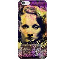 Marlene In Blue iPhone Case/Skin