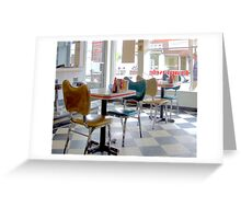 Fifties Diner Deco Greeting Card