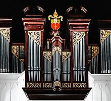 Pipe Organ at Christ Church Anglican Cathedral in Downtown Nassau, The Bahamas by Jeremy Lavender Photography