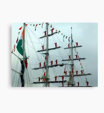 Sailors on Display Canvas Print