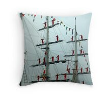 Sailors on Display Throw Pillow