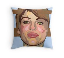 My mind forms the point of convergence of your historical lines of reference. (Liz Hurley) Throw Pillow