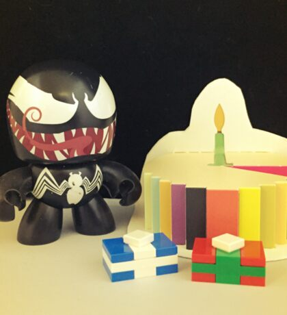 Venom Birthday Sticker