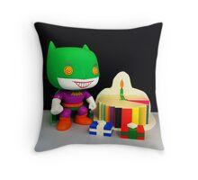 Joker/Batman Birthday Throw Pillow