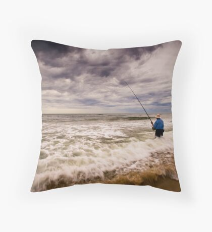 Storm Surf Caster Throw Pillow