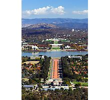 Anzac Parade - Canberra Photographic Print