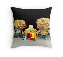 Zombie Birthday Throw Pillow