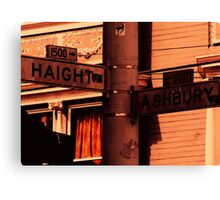 Haight/Ashbury Canvas Print