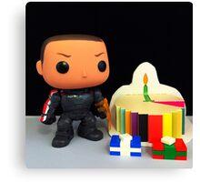 Commander Shepard Birthday Canvas Print