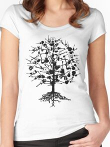 Guitars Tree Roots Women's Fitted Scoop T-Shirt
