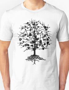Guitars Tree Roots Unisex T-Shirt