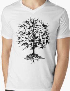 Guitars Tree Roots Mens V-Neck T-Shirt