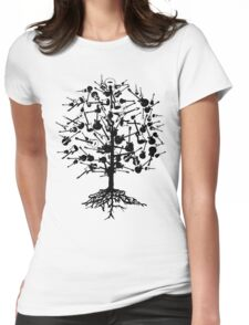 Guitars Tree Roots Womens Fitted T-Shirt
