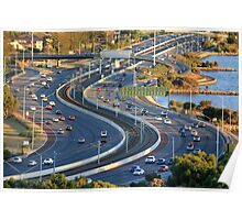 Kwinana Freeway from King's park Poster