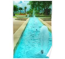 'Fountain-Blue' Poster