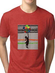 Banksy Colourful Balloon Girl  Tri-blend T-Shirt