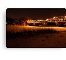 Redwood Bridge on the Red River Canvas Print