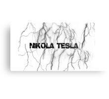 Tesla lightning Metal Print