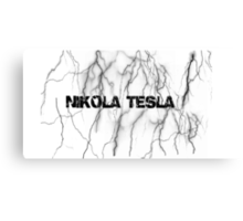 Tesla lightning Canvas Print