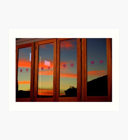 Mirrored Sunset Art Print