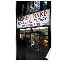 Beigel bake 24 hour.. Brick lane Poster