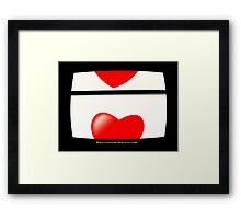 My heart is on vertical hold. Only you can set it straight. Framed Print