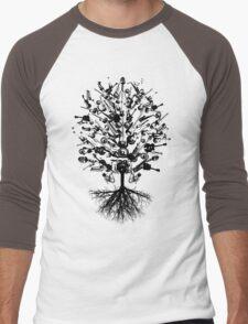 Musical Instruments Tree Men's Baseball ¾ T-Shirt