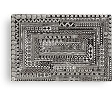 """Maze"" Highly detailed zentangle designs Canvas Print"