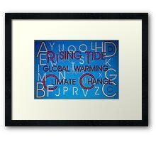 Climate Change - Hidden Message Framed Print