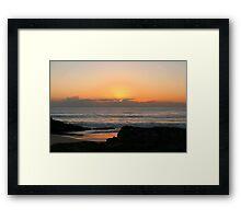 Currumbin Beach Sunrise Framed Print