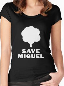 Save Miguel 3 Women's Fitted Scoop T-Shirt