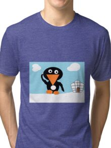 penguin invasion Tri-blend T-Shirt