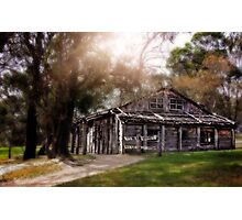 Ye Olde Aussie Bush Hut Photographic Print