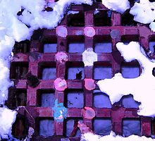 Grate Abstract in Purple by clizzio