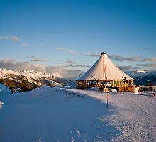 """restaurant ; Amadeus"""" on a ski tour- Crans Montana Swiss by GOSIA GRZYBEK"""