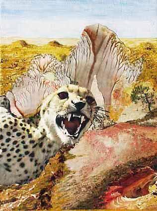 Desert with Gepard by Heinz Sterzenbach